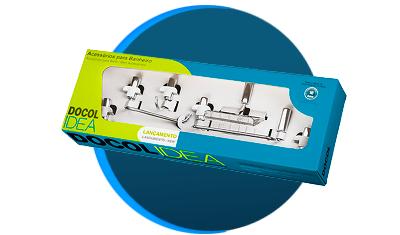 kit de acessorios docol docolidea 5 pecas 586306 cromado descricao 01