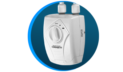 aquecedor de agua eletrico versatil lorenzetti branco
