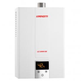 aquecedor de agua a gas lorenzetti lz 2000de digital capa