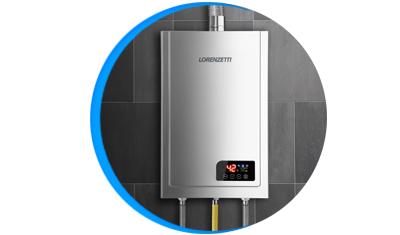 aquecedor de agua a gas lorenzetti lz 2300d i inox digital descricao