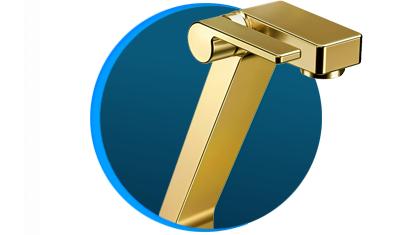 torneira para banheiro docolstillo docolchroma 820343 bica alta ouro polido descricao 01