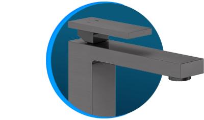 misturador monocomando docol new edge 925370 de mesa grafite escovado descricao