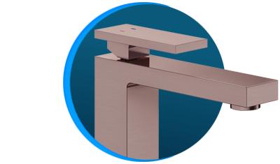 misturador monocomando docol new edge 925369 de mesa cobre escovado descricao 01