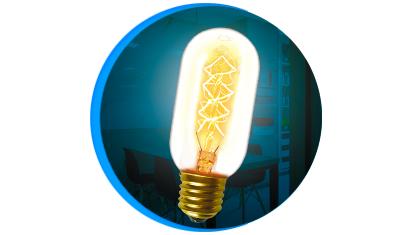 lampada filamento de carbono taschibra t45 40w e27 capa descricao