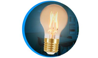 lampada led taschibra filamento vintage a60 4w bivolt e27 descricao