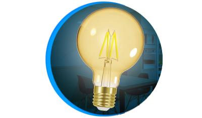 lampada led taschibra filamento globo g80 4w bivolt e27 descricao