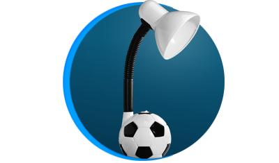 luminaria de mesa taschibra tlm 55 kids bivolt bola de futebol branca descricao