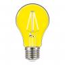 lampada led taschibra filamento color a60 4w bivolt e27 amarela