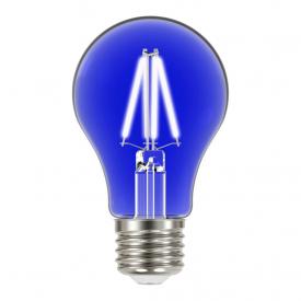 lampada led taschibra filamento color a60 4w bivolt e27 azul
