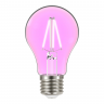 lampada led taschibra filamento color a60 4w bivolt e27 rosa