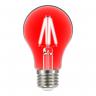 lampada led taschibra filamento color a60 4w bivolt e27 vermelho