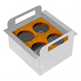 porta condimentos debacco para canal organizador umido inox capa 01