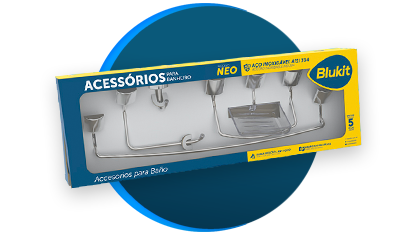kit de acessorios blukit neo 5 pecas 291209 cromado descricao