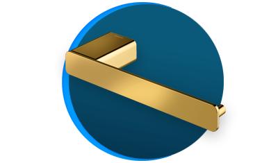 papeleira docol docolflat docolchroma 960843 ouro polido descricao
