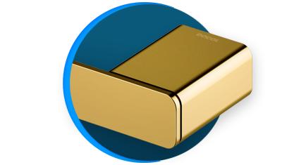 porta toalha docol docolflat docolchroma 60cm 961343 ouro polido descricao