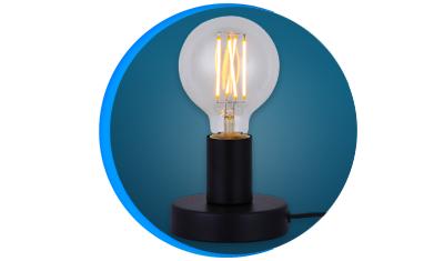luminaria de mesa taschibra single e27 bivolt preta descricao