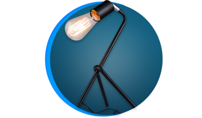 luminaria de mesa taschibra stand e27 bivolt preta descricao
