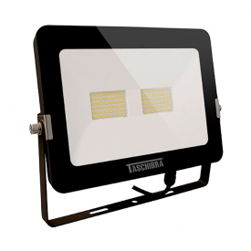 refletor taschibra 50w tr led 50 preto 220v 3000k capa 01