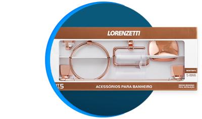 kit acessorios lorenzetti attic quadra 5 pecas 2000 f24 rose gold descricao