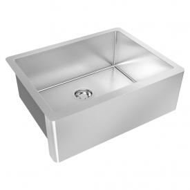 cuba farm sink debacco quadratino 800 aco inox escovado 600x470mm