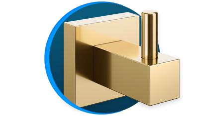 cabide docol square 388343 docolchroma ouro polido descricao