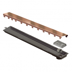 ralo linear elleve versatile 4261 tampa red gold 75cm