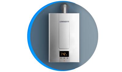 aquecedor de agua a gas lorenzetti lz 1600de i inox digital descricao