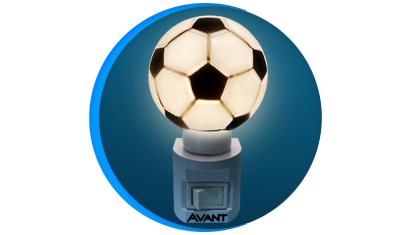luz noturna led infantil avant bola de futebol 3000k 1w bivolt descricao