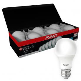 kit 6 lampadas led avant pera 9w bivolt e27 01